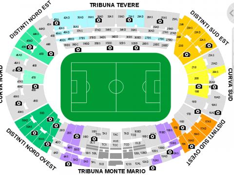 Cartina Stadio Olimpico Roma.Sul Sito Listicket Com Gia Non Ci Sono Piu Posti Per La Finale Di Coppa Italia Ma E Un Equivoco Extranapoli