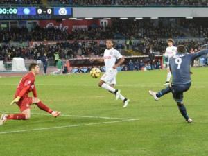 Il gol di Higuain al 90° in Napoli-Inter della Coppa Italia 2015