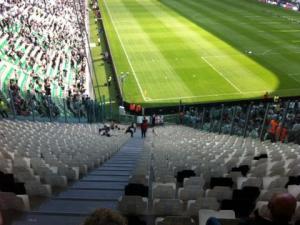 Il settore ospiti dello Juventus Stadium